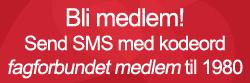Bli medlem! Send SMS med kodeord